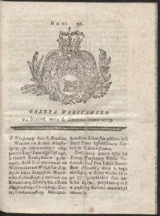 Gazeta Warszawska. R.1775 Nr 97