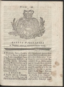 Gazeta Warszawska. R.1775 Nr 98