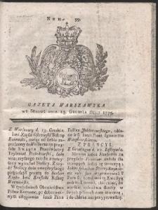 Gazeta Warszawska. R.1775 Nr 99