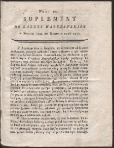 Gazeta Warszawska. R.1775 Nr 104