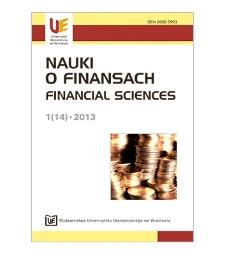 Spis treści [Nauki o Finansach = Financial Sciences, 2013, Nr 1 (14)]