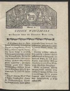 Gazeta Warszawska. R.1778 Nr 6