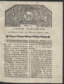 Gazeta Warszawska. R.1778 Nr 7