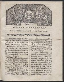 Gazeta Warszawska. R.1778 Nr 14
