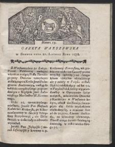 Gazeta Warszawska. R.1778 Nr 15