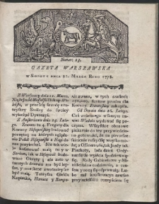 Gazeta Warszawska. R.1778 Nr 23