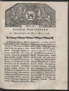 Gazeta Warszawska. R.1778 Nr 24