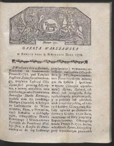 Gazeta Warszawska. R.1778 Nr 27