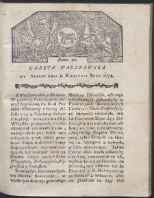 Gazeta Warszawska. R.1778 Nr 28