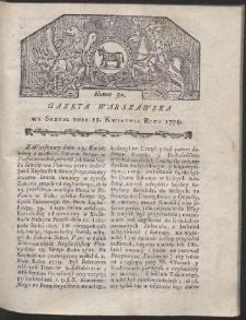 Gazeta Warszawska. R.1778 Nr 30