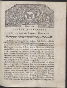 Gazeta Warszawska. R.1778 Nr 31