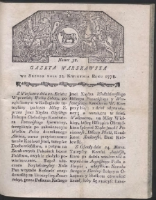 Gazeta Warszawska. R.1778 Nr 32