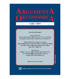 Table of contents [Argumenta Oeconomica, 2019, Nr 1 (42)]