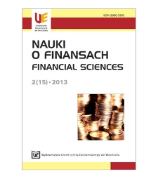 Table of contents [Nauki o Finansach = Financial Sciences, 2013, Nr 2 (15)]