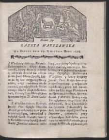 Gazeta Warszawska. R.1778 Nr 34