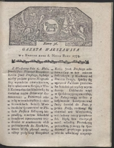 Gazeta Warszawska. R.1778 Nr 36