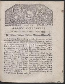Gazeta Warszawska. R.1778 Nr 37