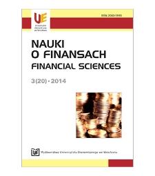 Spis treści [Nauki o Finansach = Financial Sciences, 2014, Nr 3 (20)]