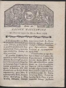 Gazeta Warszawska. R.1778 Nr 38