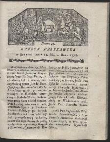 Gazeta Warszawska. R.1778 Nr 41