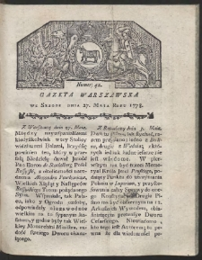 Gazeta Warszawska. R.1778 Nr 42