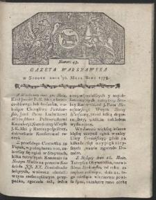 Gazeta Warszawska. R.1778 Nr 43