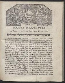 Gazeta Warszawska. R.1778 Nr 45