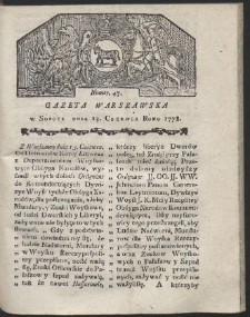 Gazeta Warszawska. R.1778 Nr 47
