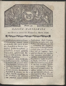 Gazeta Warszawska. R.1778 Nr 48