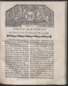 Gazeta Warszawska. R.1778 Nr 50