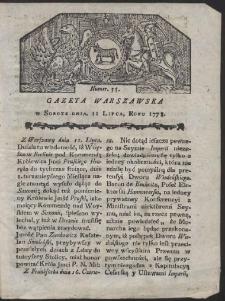 Gazeta Warszawska. R.1778 Nr 55