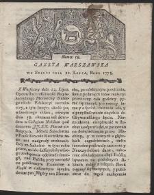 Gazeta Warszawska. R.1778 Nr 58