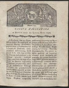 Gazeta Warszawska. R.1778 Nr 59