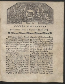 Gazeta Warszawska. R.1778 Nr 62
