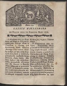 Gazeta Warszawska. R.1778 Nr 64
