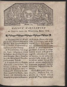 Gazeta Warszawska. R.1778 Nr 74