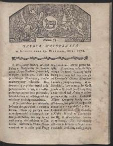 Gazeta Warszawska. R.1778 Nr 75