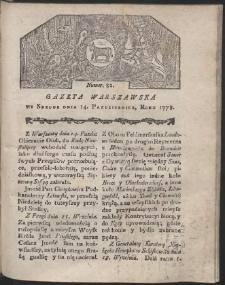 Gazeta Warszawska. R.1778 Nr 82