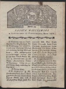 Gazeta Warszawska. R.1778 Nr 83
