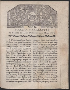 Gazeta Warszawska. R.1778 Nr 84