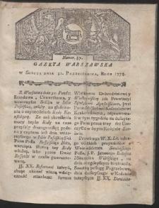 Gazeta Warszawska. R.1778 Nr 87