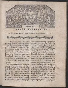 Gazeta Warszawska. R.1778 Nr 91