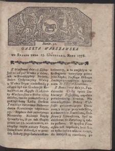Gazeta Warszawska. R.1778 Nr 92