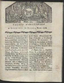 Gazeta Warszawska. R.1778 Nr 101