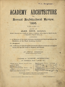 Academy Architecture and Annual Architectural Review, 1895, volume II