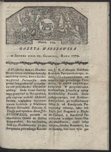 Gazeta Warszawska. R. 1779 Nr 103