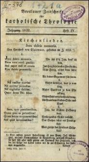 Breslauer Zeitschrift für katholische Theologie. Jhrg. 1832, H. 4-6