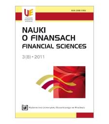 Spis treści [Nauki o Finansach = Financial Sciences, 2011, Nr 3 (8)]