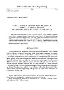 Contamination of soils with polycyclic aromatic hydrocarbons near petrol stations in the city of Kielce