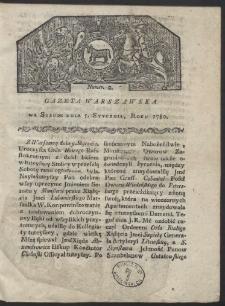 Gazeta Warszawska. R. 1780 Nr 2